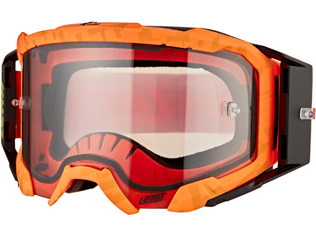Leatt Velocity 5.5 Anti Fog Lunettes de protection, neon orange/light grey